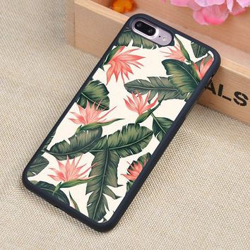 Tropical Palm Tree Leaves Soft Rubber Back Case Cover For iPhone 6 6S Plus 7 7 Plus 5 5S 5C SE 4 4S Mobile phone bag
