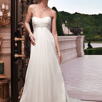 Casablanca Bridal 2134 Strapless Chiffon Wedding Dress