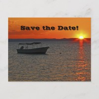 Save the Date 100th Birthday Party, Fishing Boat Announcement Postcard