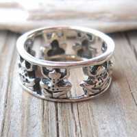925 Sterling Silver Frog Ring