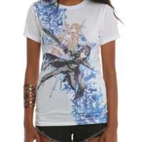 Sword Art Online Asuna & Kirito Sublimation Girls T-Shirt