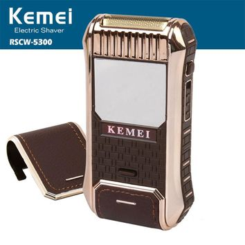 Kemei 2-in-1 electric shaver shaving machine beard trimmer beard shaver electric razor for men barbeador eletrico face care