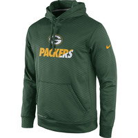 Men's Green Bay Packers Nike Green Sideline Fleece Therma-FIT Pullover Hoodie