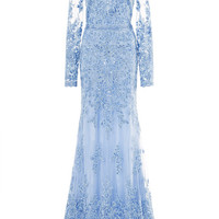 Lace Embroidered Gown by Naeem Khan - Moda Operandi