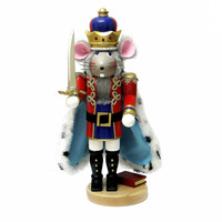 Santa's Little Helper Collection 17.5-Inch Steinbach Mouse King Nutcracker