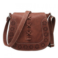 Vintage Weaving and Hollow Out Design Women's Crossbody Bag
