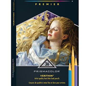Prismacolor Premier Verithin Colored Pencils, 36 Pack