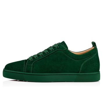 Christian Louboutin Cl Louis Junior Men's Flat Jungle Suede 13s Sneakers - Ready Stock