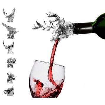 bar tools Wine Accessories Deer Head Red Wine Stopper Zinc Alloy Creative Personality Bar Tool