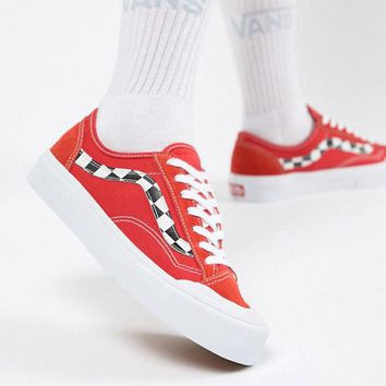 Vans Exclusive Red Style 36 Decon Sf Trainers at asos.com