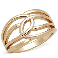 Rose Gold Intertwined Stainless Steel Ring