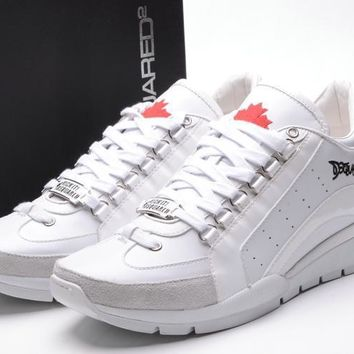 Dsquared2 Men's New Leather Casual Sneakers Shoes