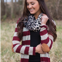 Toasty and Warm Fireside Sweater in Burgundy - Tops