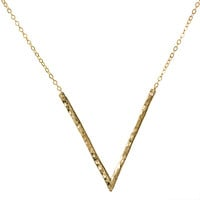 V Necklace Gold Filled Long Triangle Chain Jewelry