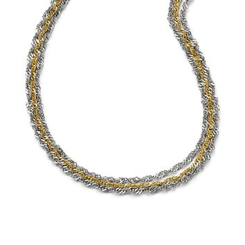 3 Strand Necklace in Stainless Steel - Lobster Claw Singapore