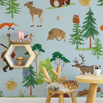 The Lil' Outdoorsman Wallpaper Pattern