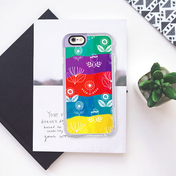 Spring colors flowers iPhone 6s case by Famenxt | Casetify