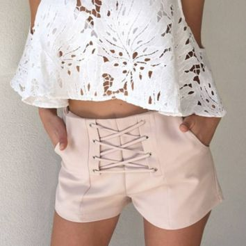 NEW hot sale fashion lace up type knot short bottom