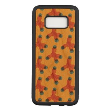 Chemistry Geek Orange Methane Molecules Pattern Carved Samsung Galaxy S8 Case