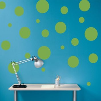 Polka Dots Decal Vinyl Wall Art - Children Wall Decals - Set of 22