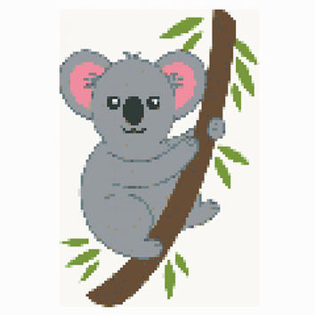 Cross stitch pattern Koala bear-PDF-Instant Download-Counted cross stitch-Patterns for kids-Embroidery-Koala pattern-Disney-needlepoint