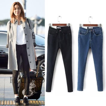 Winter 3-color High Waist Stretch Slim Pencil Pants Jeans [8864340039]
