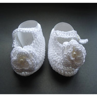 "Crochet Baby shoes, Baby shoes, Custom baby shoes, fashion baby shoes, ceremony shoes, baby accessories - Up to 12 cm (4.7"")"