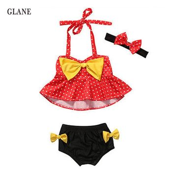 1-4years children swimwear girls swimwear baby kids biquini infantil swimsuit bikini girl 2017 New summer bathing suit