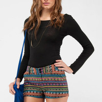 Psychadelic Woven Shorts in Multi :: tobi