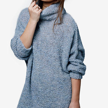Free People She's All That Funnel-Neck Sweater | macys.com
