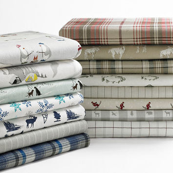JCPenney Home Print Flannel Sheet Set - JCPenney