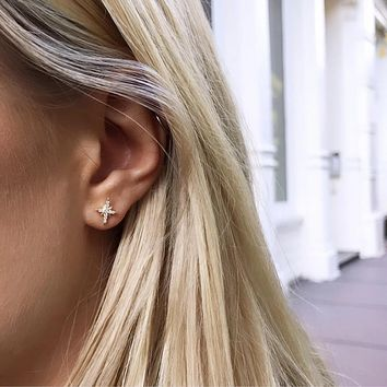 Gold Filled North Star Earrings