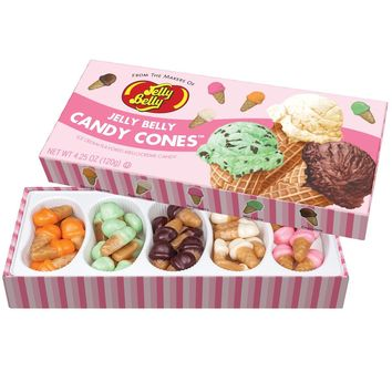 Jelly Belly Ice Cream Candy Cone Mellocreme Gift Box