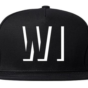 Kings Of NY Initials Wisconsin USA State WI Snapback Hat
