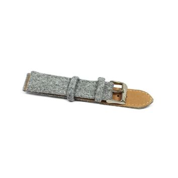 Gray Felt Band With Genuine Leather Backing