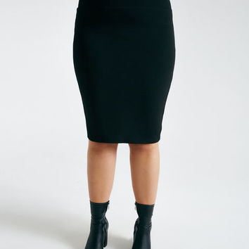 Plus Size Bodycon Midi Skirt | Wet Seal Plus