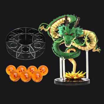 Anime Dragon ball Z Super Figure Shenron Action Figure 7 stars Crystal Ball with Shelf Dragonball Collectible Model Doll Toys