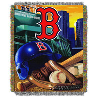 Boston Red Sox MLB Woven Tapestry Throw (Home Field Advantage) (48x60)