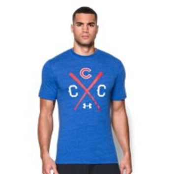 Under Armour Men's Chicago Cubs Charged Cotton Tri-Blend T-Shirt