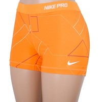 "Nike Core 2.5"" Compression Women's Short Sublimate (Orange/Magenta/White, XL)"