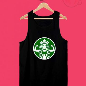 3b2cfed6b721fb Starbuff Strong Starbucks Parody Tank Top Design Ideas