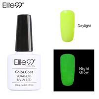 Elite99 10ML Candy Colors Nail Polish Glow in the Dark Nail Polish Fluorescent Nail Art Polish Enamel for Nail Art Design