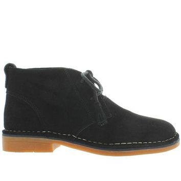 ONETOW Hush Puppies Cyra Catelyn - Black Suede Chukka Boot