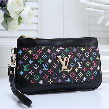 Louis Vuitton LV Women Fashion Leather Clutch Bag Satchel Tote