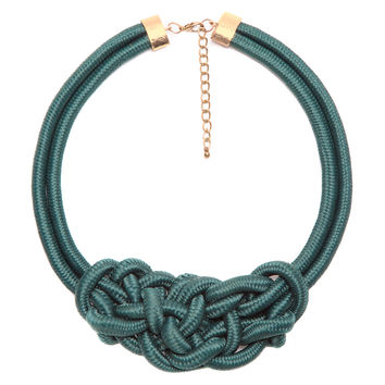 Knot My Type Green Necklace
