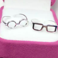 Personality glasses index finger ring, 925 sterling silver ring,a perfect gift