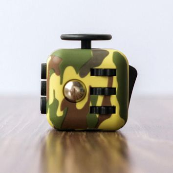 2017 New Style Fashion Buttons Camouflage Fidget Cube Toy Anti Stress Fidget Funny Cube Toys X6