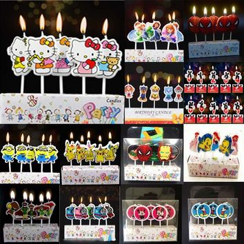 Mickey Mouse Cake Number Candles & Minions Sofia Birthday Candles Party Favors Baby Shower Festival Christmas Dinner Decorations