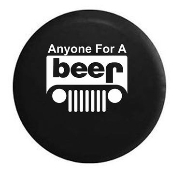 Anyone for a Beer Jeep Off Road 4x4 Drinking Brewing , Jeep, RV, Camper, Spare, Tire, Cover