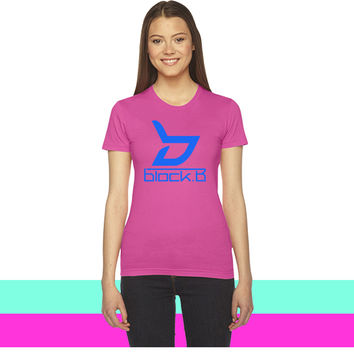 Block B Logo Blue Ver. women T-shirt